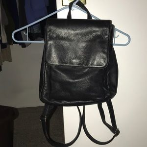 Vintage Nine West leather black backpack